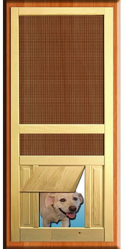 Screen doors product review pet passages from woodshop - 30 x 80 exterior door with pet door ...
