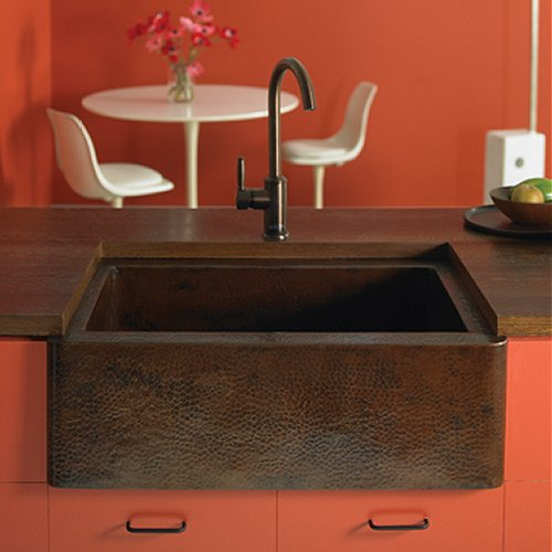 a hand hammered copper farmhouse sink - Copper Kitchen Sinks Reviews